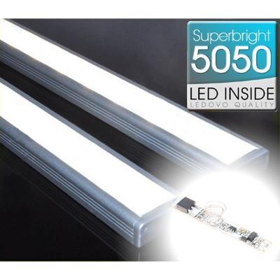 LISTWA LED Semi 5050 / 880 LUMENÓW / biała neutralna / 100cm + ŚCIEMNIACZ