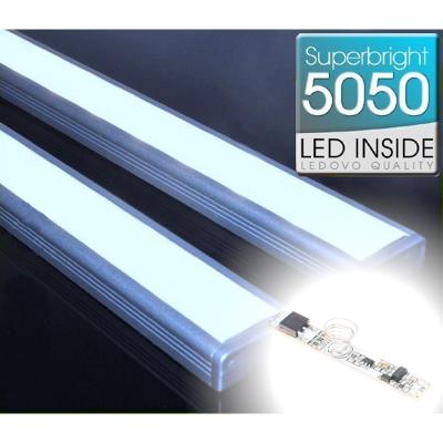 LISTWA LED Semi 5050 / 440 LUMENÓW / biała zimna / 50cm + ŚCIEMNIACZ