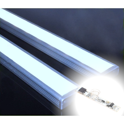 LISTWA LED Semi 2835 / 660 LUMENÓW / biała zimna / 50cm + ŚCIEMNIACZ