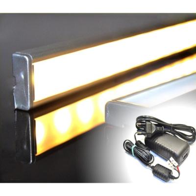 LISTWA LED PODSZAFKOWA Semi 100cm / diody 3528 / biała ciepła + ZASILACZ