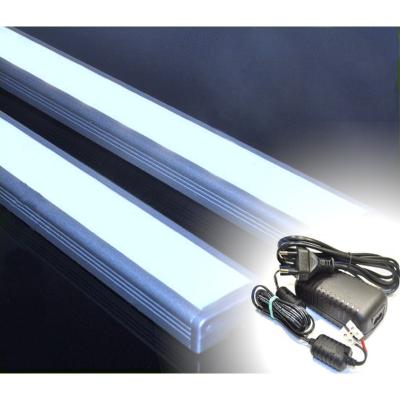 LISTWA LED PODSZAFKOWA Semi 100cm / diody 3528 / biała zimna + ZASILACZ