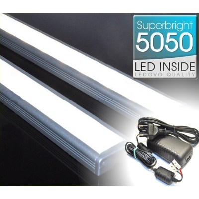 LISTWA LED Semi 5050 / 440 LUMENÓW / biała neutralna / 50cm + ZASILACZ
