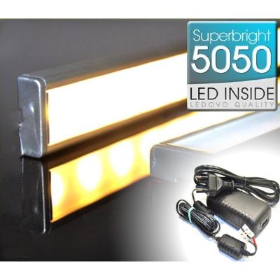 LISTWA LED Semi 5050 / 880 LUMENÓW / ciepłobiała / 100cm + ZASILACZ