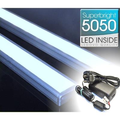 LISTWA LED Semi 5050 / 880 LUMENÓW / zimnobiała / 100cm + ZASILACZ