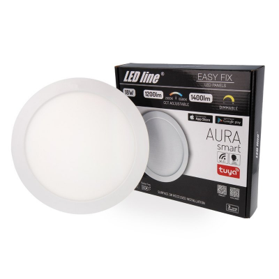 PANEL LED LEDLINE AURA SMART 18W 1200-1400lm 230V CCT