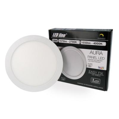 PANEL LED LEDLINE AURA 18W 1570lm 230V 2700K ściemnialny