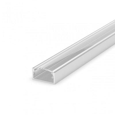 Profil LED Nawierzchniowy P4-1 anodowany z kloszem transparentnym 2m