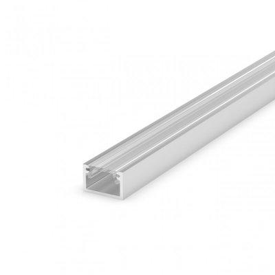 Profil LED Nawierzchniowy P4-2 anodowany z kloszem transparentnym 2m