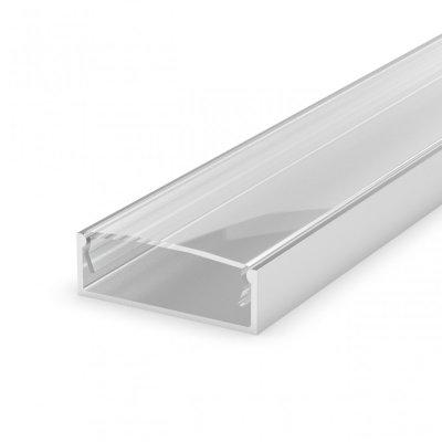 Profi LED Nawierzchniowy P13-1 anodowany z kloszem transparentnym 2m