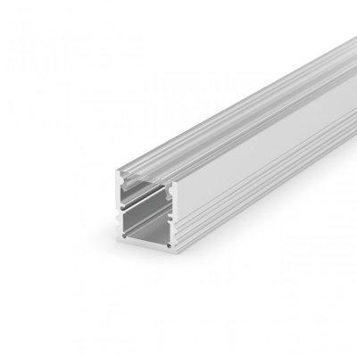 Profil LED Nawierzchniowy P25-3 anodowany z kloszem transparentnym 2m