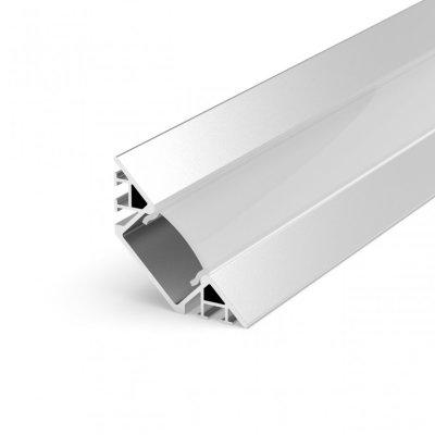 Profil LED Kątowy P7-1 anodowany z kloszem transparentnym 2m