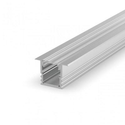 Profil LED Wpuszczany P25-1 anodowany z kloszem transparentnym 2m