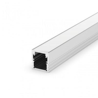 Profil LED Nawierzchniowy P25-3 biały lakierowany z kloszem transparentnym 2m