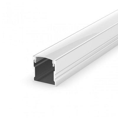 Profil LED Nawierzchniowy P5-1 biały lakierowany z kloszem transparentnym 2m