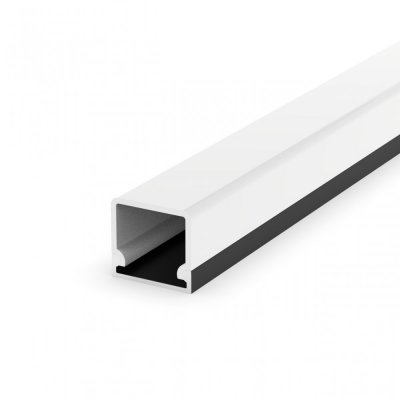 Profil LED Nawierzchniowy P4-3 czarny lakierowany z kloszem transparentnym 2m