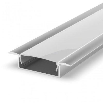 Profil LED Wpuszczany P14-1 biały lakierowany z kloszem mlecznym 2m