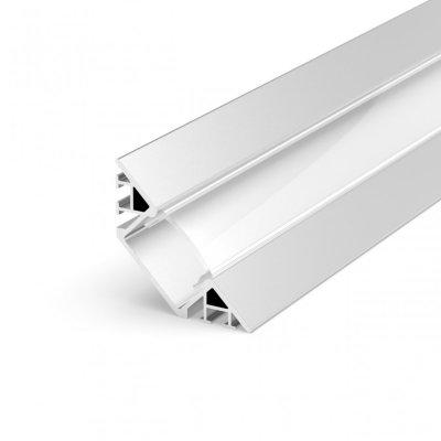 Profil LED Kątowy P7-1 biały lakierowany z kloszem mlecznym 2m