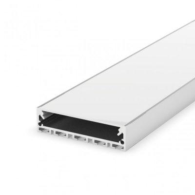 Profil LED architektoniczny napowierzchniowy P20-1 biały lakierowany z kloszem mlecznym 2m