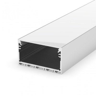 Profil LED architektoniczny napowierzchniowy P23-3 biały lakierowany z kloszem mlecznym 2m