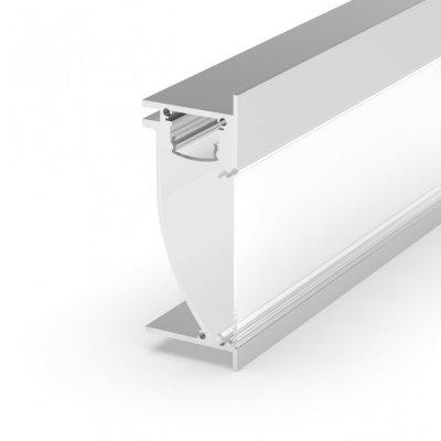 Profil LED architektoniczny ścienny P26-2 biały lakierowany z kloszem mlecznym 2m
