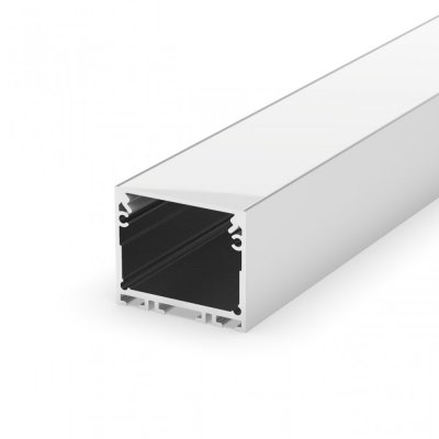 Profil LED architektoniczny napowierzchniowy P22-3 anodowany z kloszem mlecznym 2m