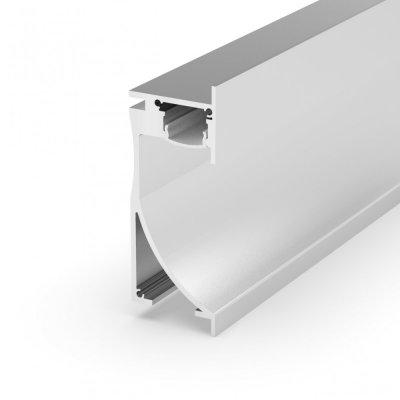 Profil LED architektoniczny ścienny P26-1 anodowany z kloszem mlecznym 2m