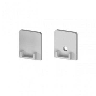 Zaślepki boczne do profili P4-1 C11 srebrne (2 sztuki)