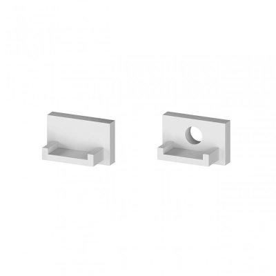 Zaślepki boczne do profili P4-2 C10 srebrne (2 sztuki)