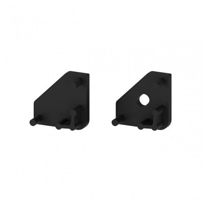 Zaślepki boczne do profili P3-1 C13 czarne (2 sztuki)