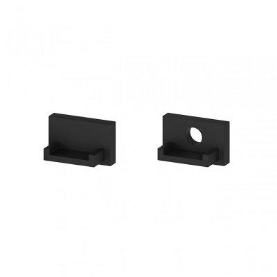 Zaślepki boczne do profili P4-2 C10 czarne (2 sztuki)