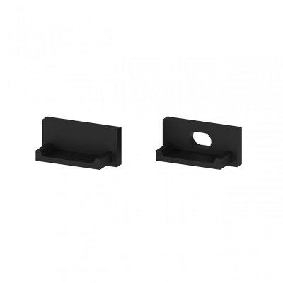 Zaślepki boczne do profili P4-1 C13 czarne (2 sztuki)