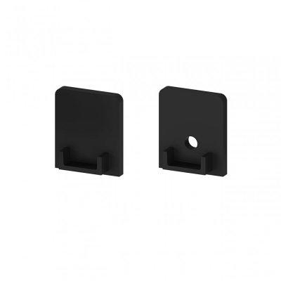 Zaślepki boczne do profili P4-1 C11 czarne (2 sztuki)