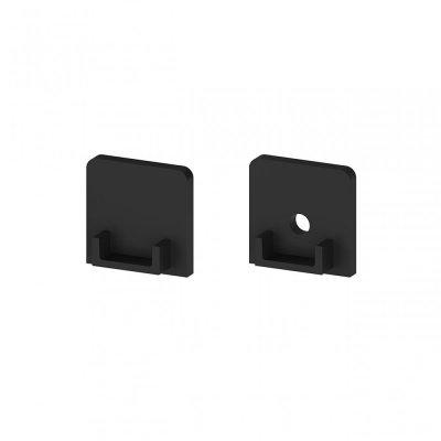 Zaślepki boczne do profili P4-3 C11 czarne (2 sztuki)