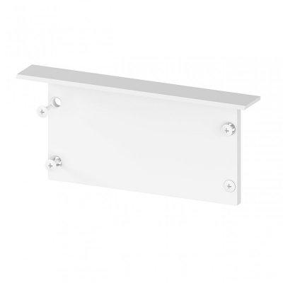 Zaślepka boczna bez otworu do profili architektonicznych P23-1 C6 aluminiowa biała