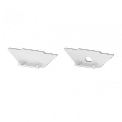 Zaślepki boczne do profili P7-1 C13 białe (2 sztuki)