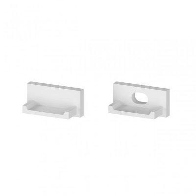 Zaślepki boczne do profili P4-1 C13 białe (2 sztuki)