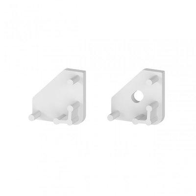 Zaślepki boczne do profili P3-1 C13 białe (2 sztuki)