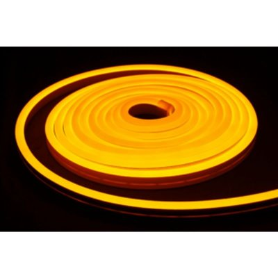Neon LED żółty złoty 12W/m 350lm IP65 rolka 5mb