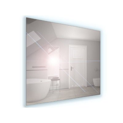 Lustro łazienkowe z oświetleniem LED 100x65cm