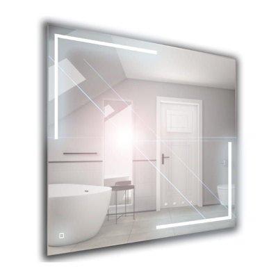 Lustro łazienkowe z oświetleniem LED i wyłącznikiem dotykowym 100x65cm