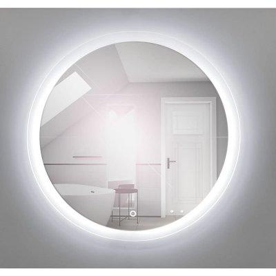 Lustro łazienkowe okrągłe z oświetleniem LED i wyłącznikiem dotykowym 80cm