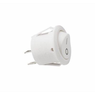 Wyłącznik kołyskowy 230V IP20 10A 20mm biały