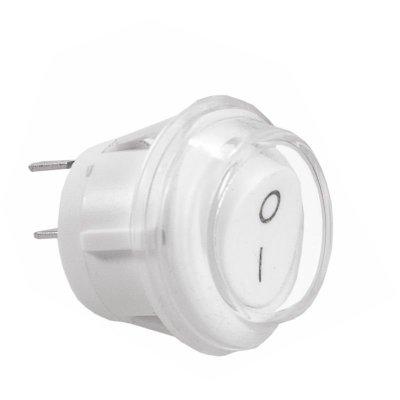 Wyłącznik kołyskowy 230V IP44 10A 20mm biały