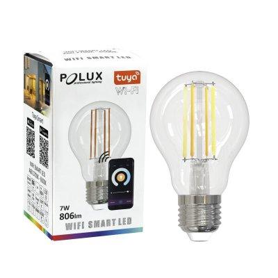 Inteligentna Żarówka Polux Tuya filament E27 A60 7W CCT Wi-Fi