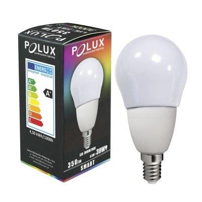 Żarówka Polux SMART E14 G55 4,5W RGBW biała ciepła IR
