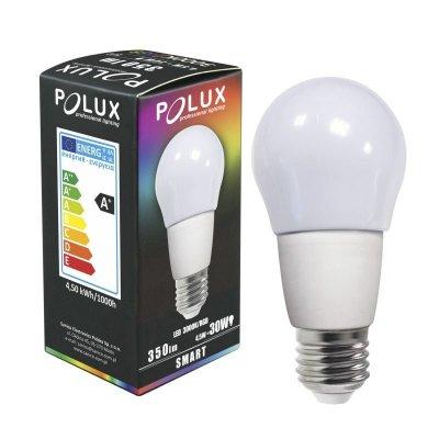 Żarówka Polux SMART E27 G55 4,5W RGBW biała ciepła IR