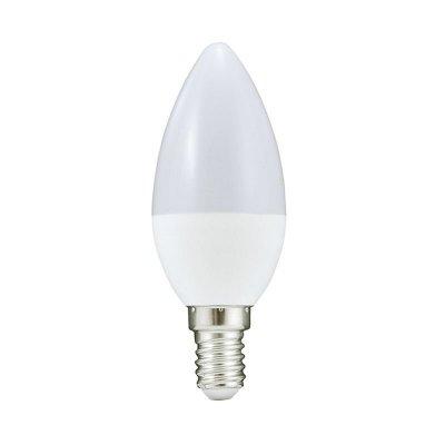 Żarówka LED Polux E14 mały gwint C37 5,5W 480lm biała ciepła mleczna