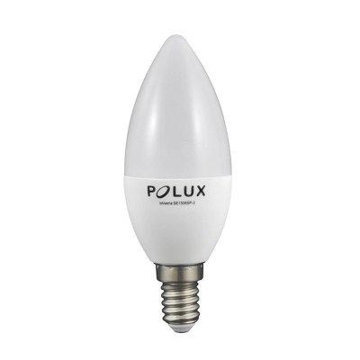 Żarówka LED Polux E14 mały gwint C37 6,5W 560lm biała ciepła mleczna
