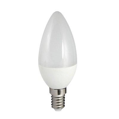 Żarówka LED Polux E14 mały gwint C37 7W 640lm biała ciepła mleczna