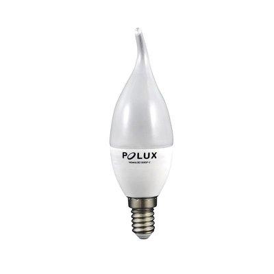 Żarówka LED Polux E14 mały gwint F40 płomyk 6,3W 560lm biała ciepła mleczna